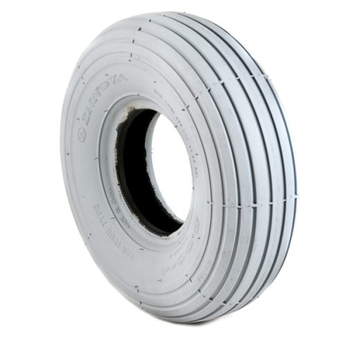 300 x 4 ribbed tyre grey