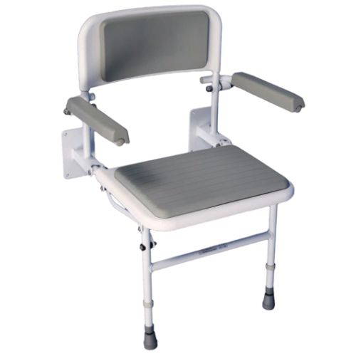 VB535, Aidapt, Solo Deluxe Shower Seat, Shower Seat, Padded Shower Seat, Seat, Height Adjustable, Shower Seat with arms, Bathroom Aid