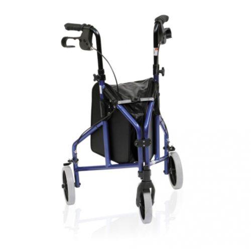 Tri Wheeled Folding Walker Blue