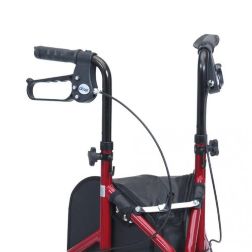Tri Wheeled Folding Walker Handles