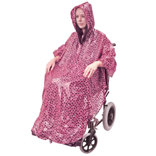 Waterproof Wheelchair Pink Poncho, Pink Poncho, Wheelchair Poncho, Waterproof Cover, Aidapt Wheelchair Cover, Pink, Universal