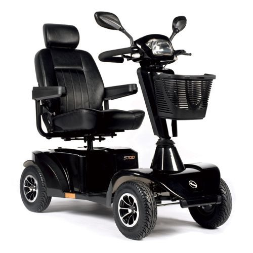 Sunrise Sterling S700 Mobility Scooter Black, Black, Sunrise, Sterling, S700 Mobility Scooter, Mobility Scooter, 8MPH, 8 mph, Mobility, Full Suspension, Lights and Indicators, Road Legal Scooter, Electric Mobility Scooter,