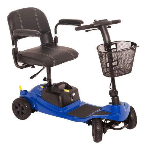 One rehab, Liberty, Electric mobility scooter, affordable, portable and lightweight, drives up to 4mph speeds, with a 10 mile range