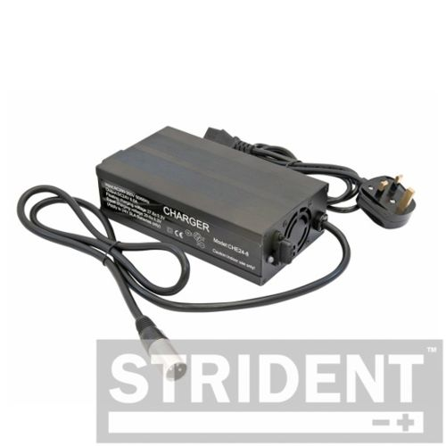 Strident 24V 8 Amp Battery Charger, Ivanhoe, Suitable for batteries 50ah to 100ah, charges mobility scooter